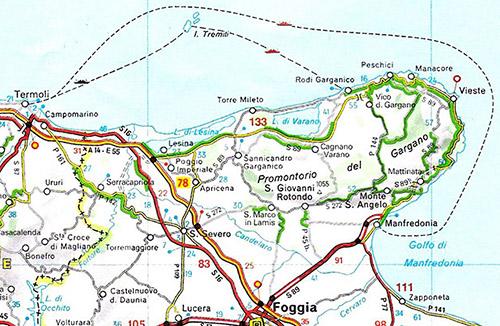 Apulien Karte Italien.Mein Italien Vieste